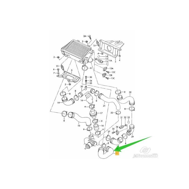FURTUN INTERCOOLER TRANSPORTER 2.5 ACV AYC AUF
