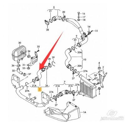 FURTUN INTERCOOLER PASSAT 1.9tdi AVF AWX