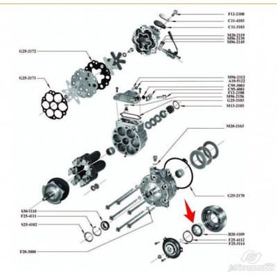 Rulment compresor Sanden 35x52x20